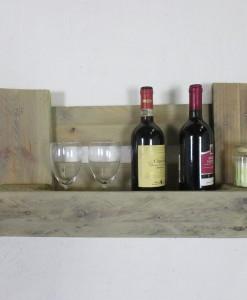 Palettenregal, grau, Weinregal aus Palettenholz