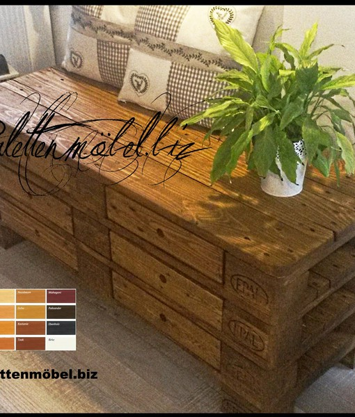 palettenkommode mit schubladen in braun sideboard aus palettenholz europaletten kaufen. Black Bedroom Furniture Sets. Home Design Ideas