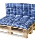 Palettenkissen-Auflage-fr-Europalette-mit-Rckenteil-Sitzkissen-Karo-Blau-0