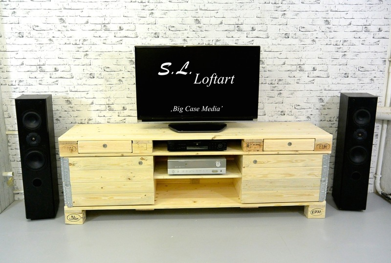 paletten lowboard sideboard hifi board europaletten. Black Bedroom Furniture Sets. Home Design Ideas
