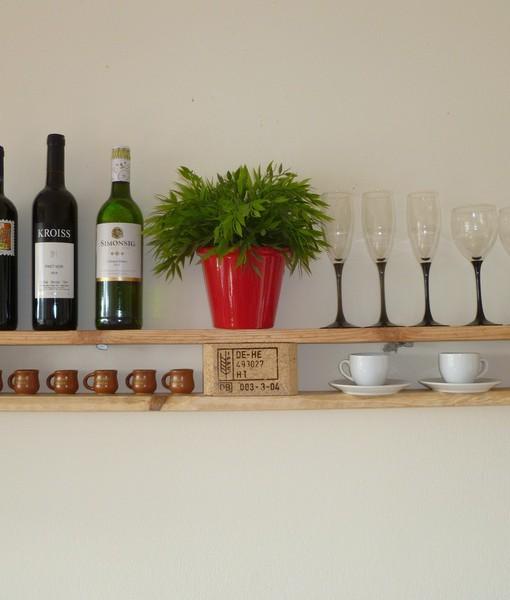 palettenregal, natur braun, weinregal/küchenregal - europaletten ... - Weinregal Für Küche