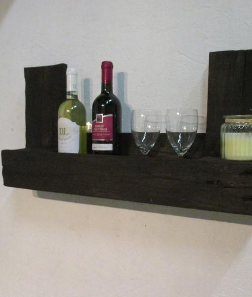 paletten weinregal mahagoni schwarz wandregal aus. Black Bedroom Furniture Sets. Home Design Ideas