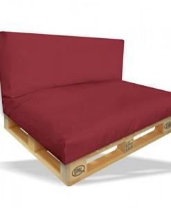 Palettenkissen-2er-Set-Sitzpolster-120x80x15cm-Rckenkissen-120x40x10cm-Farbe-Bordeaux-In-Outdoor-Palettenpolster-Paletten-Rattanmbel-Polster-0