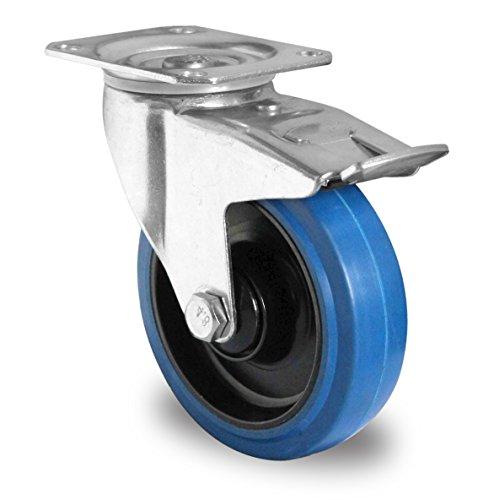 1 satz blue wheels lenkrollen silber blau schwarz. Black Bedroom Furniture Sets. Home Design Ideas
