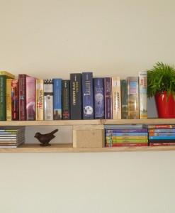 Sehr Bücherregal // Paletten, naturfarben // Paletten-Wandregal DT97