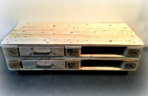 Palettensideboard mit Schubladen, braun, Kommode aus Palettenholz