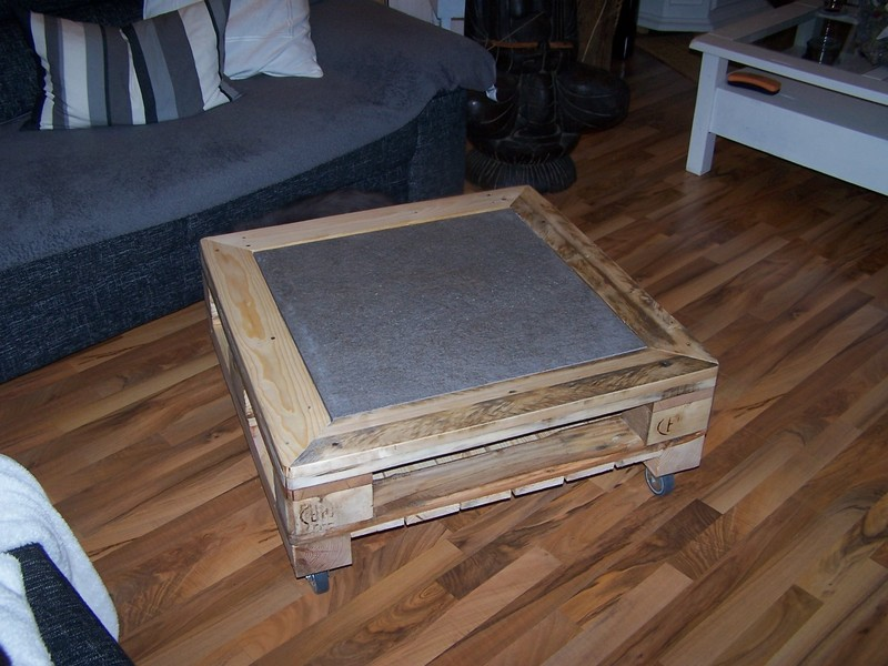 Palettentisch, Tisch aus Paletten, Couchtisch, braun, natur, mit ...