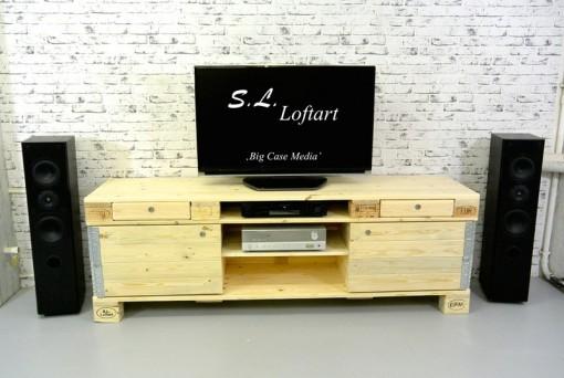 Lowboard aus Paletten, Sideboard aus Europaletten, Paletten HiFi-Regal