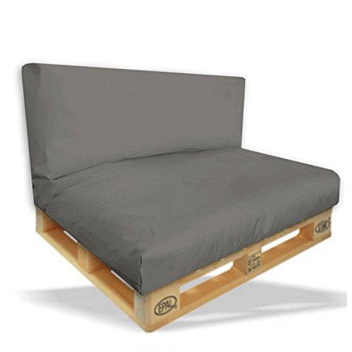 Palettenkissen-2er-Set-Sitzpolster-120x80x15cm-Rckenkissen-120x40x10cm-Farbe-Anthrazit-In-Outdoor-Palettenpolster-Paletten-Rattanmbel-Polster-0