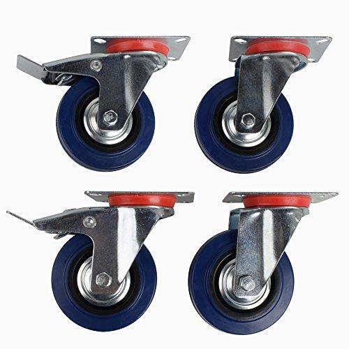 SPEED-4x75mm-Transportrollen-Lenkrollen-Wheel-Schwerlastrollen-mo-Bremse-BlauSilber-0