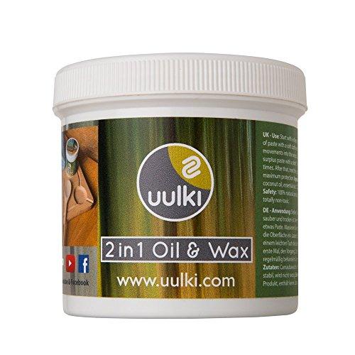 Uulki-Natrliche-Holzpflege-2-in-1-Holzwachs-Holzl-fr-Schneidebretter-und-Kchenhelfer-aus-Holz-und-Bambus-Pflanzlich-Vegan-250-ml-0